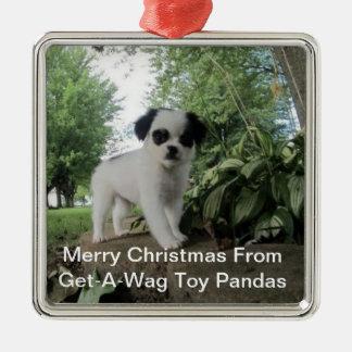 Get-A-Wag Toy Panda Dog Ornament