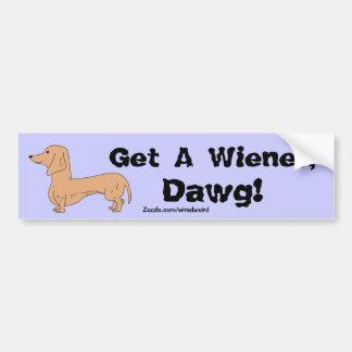 Get A Wiener, Dawg! Bumper Sticker Car Bumper Sticker