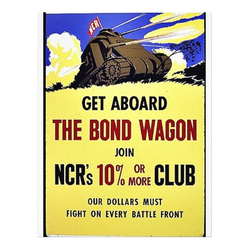 Get Aboard The Bond Wagon Join Ncr's 10% Or More C Personalized Flyer