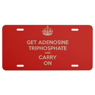Get Adenosine Triphosphate and Carry On License Plate