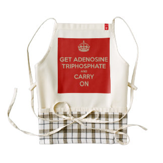 Get Adenosine Triphosphate and Carry On Zazzle HEART Apron