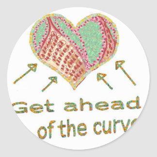 Get ahead of the curve - Management Jargon Classic Round Sticker