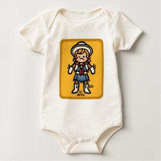 get along little doggy. baby bodysuit