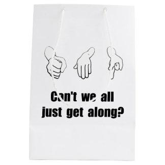 Get Along Rock Paper Scissors Medium Gift Bag