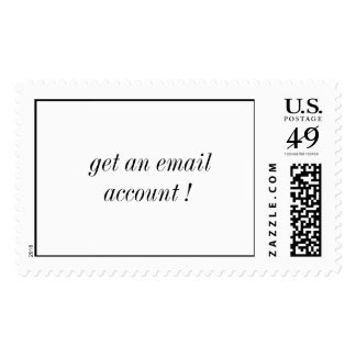 get an email account ! postage