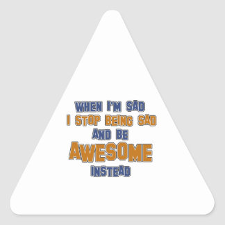 Get Awesome designs Triangle Sticker