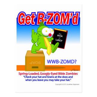 Get B-ZOM'd Original Postcard