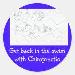 Get back in swim Chiropractor sticker