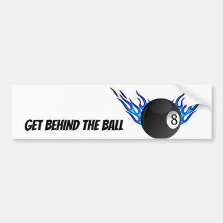 Get Behind the 8 BALL Bumper Sticker