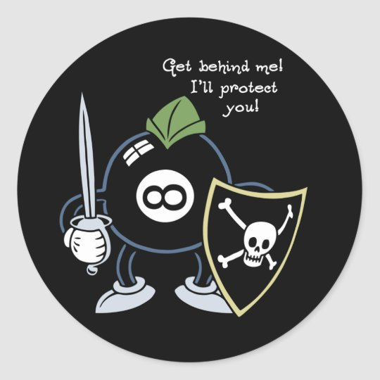 Get Behind the 8-Ball! Classic Round Sticker