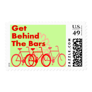 Get Behind The Bars  Cyclist gifts Postage