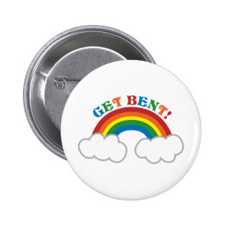 GET BENT! with cute rainbow Button