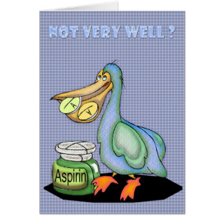 Get better soon card, Pelican Card