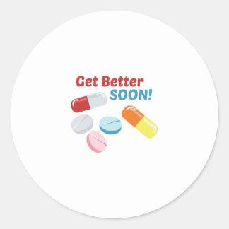 Get Better Soon Classic Round Sticker