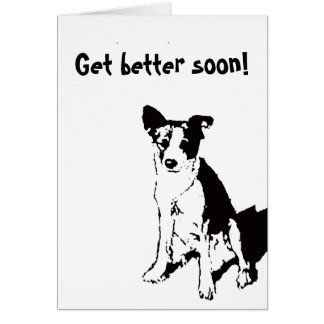 Get better soon! stationery note card
