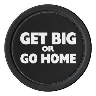 Get Big Or Go Home White Poker Chip Set