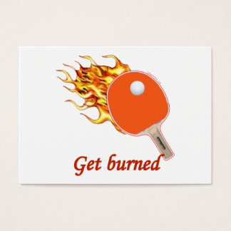 Get Burned Flaming Ping Pong Business Card