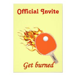 Get Burned Flaming Ping Pong Card