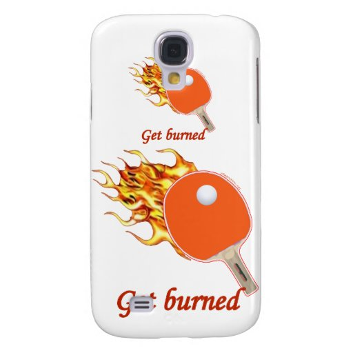 Get Burned Flaming Ping Pong Galaxy S4 Covers