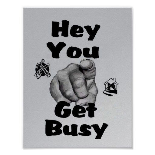 Get Busy Poster