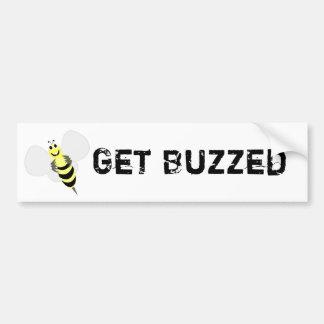 Get Buzzed Bumper Sticker