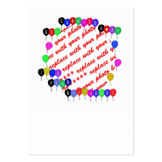 Get Carried Away Birthday Balloons Photo Frame Large Business Cards (Pack Of 100)