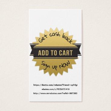 Professional Business Get Cash Back Gold Star Black Banner Business Card