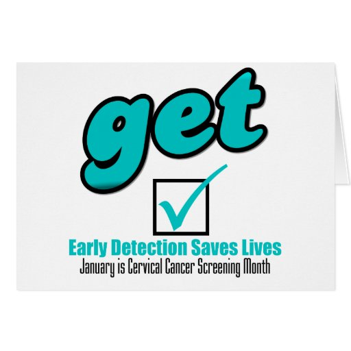 Get Checked Cervical Cancer Greeting Cards
