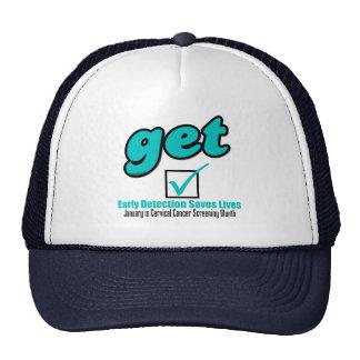 Get Checked Cervical Cancer Trucker Hat
