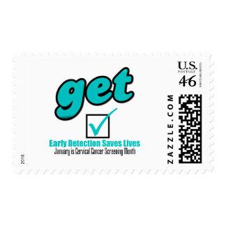 Get Checked Cervical Cancer Postage