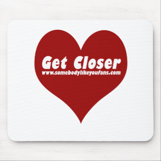 Get Closer Heart Mouse Pad