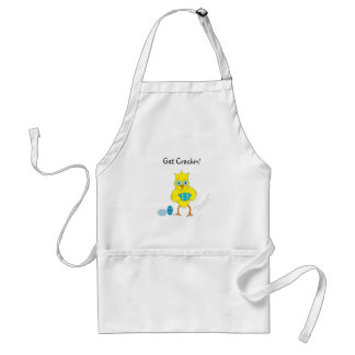 Get Cracking Funny Easter Chick Adult Apron