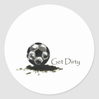 Get Dirty Soccer Round Stickers