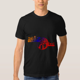 Get down 2 vinyl funky colored clubbing tee