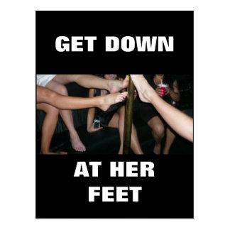 GET DOWN AT HER FEET POSTCARD