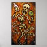 """Get Down On Them Prayin Bones"" poster Angry Johnn"