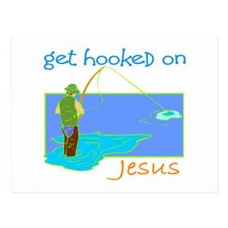Get enganchó en el pescador de Jesús Postal