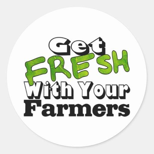 Get Farmer Fresh Round Stickers