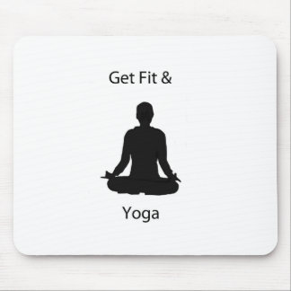 get fit and yoga mouse pad