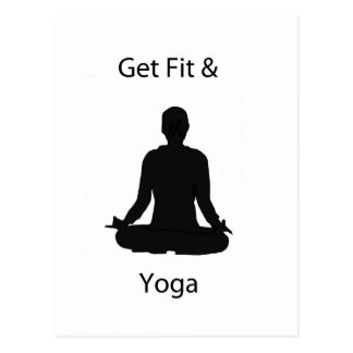 get fit and yoga postcard