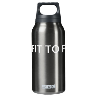 GET FIT Black Insulated Water Bottle
