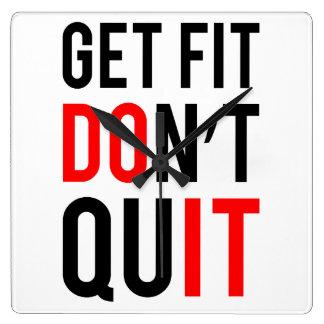 Get Fit Don t Quit Wallclocks