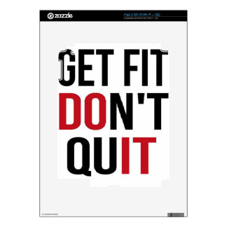 Get Fit Don't Quit - DO IT Decal For iPad 2