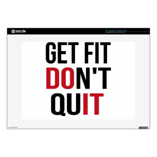 Get Fit Don't Quit - DO IT Decals For Laptops