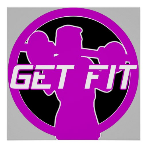 Get Fit Fitness Poster