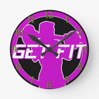 Get Fit Fitness Wall Clock