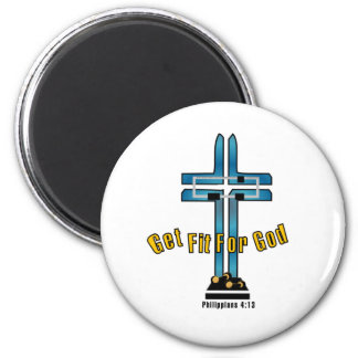 Get Fit For God 2 Inch Round Magnet