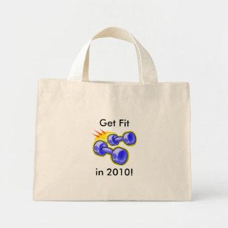 Get Fit in 2010 Mini Tote Bag