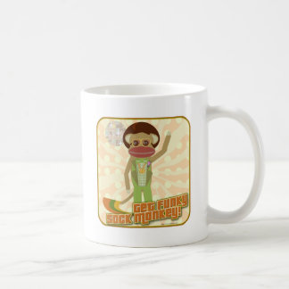 Get Funky Sock Monkey Coffee Mug