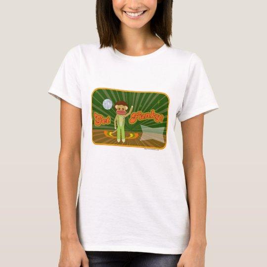 Get Funky Sock Monkey Custom Style T-Shirt